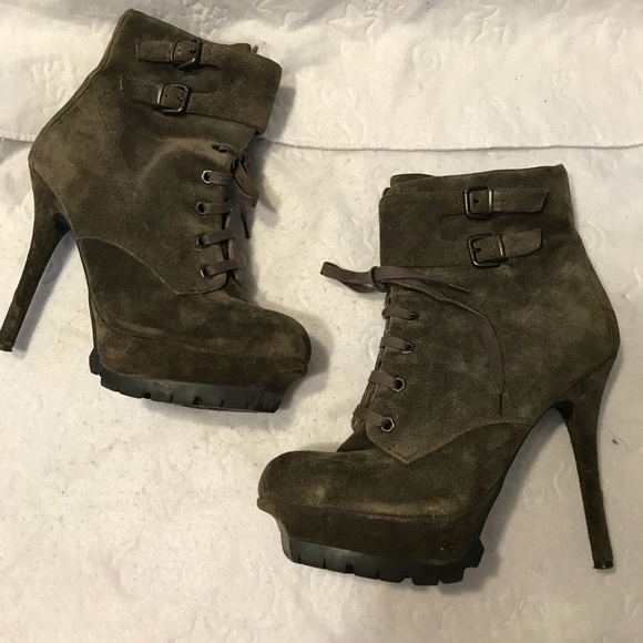 423f644912745 Sam Edelman Olive Green Ankle Boots Heels. M 5acc0d42331627f34a171d07